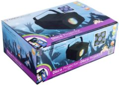 Zwarte PartyFunLights Disco LED Projector - color effects