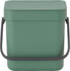 Groene Brabantia Sort & Go Afvalbakje - 3 l - Fir Green