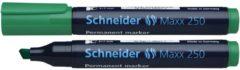 Marker Schneider Maxx 250 permanent beitelpunt groen