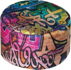 Sitzhocker DotCom, 50 cm, GRAFFITI