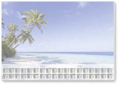 Sigel Beach HO470 Bureau onderlegger Jaarkalender Meerdere kleuren (b x h) 595 mm x 410 mm