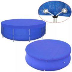 Blauwe VidaXL Zwembadhoes rond 90 g/m² 540 cm PE