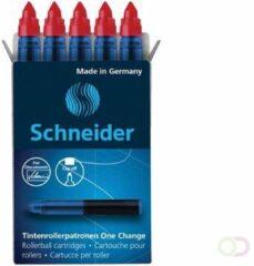 Schneider vulling One Change, doos van 5 stuks, rood