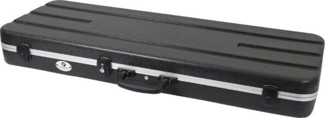 Afbeelding van De Fazley GC-EC500B is gemaakt van ABS kunststof en een dikke laag pluche (zeven millimeter). Deze spatwaterdichter koffer is voorien van TSA sluitingen. Voor veilig opbergen en vervoer van jouw elektrische gitaar.