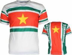 Merkloos / Sans marque Suriname Voetbal T-Shirt Wit / Geel / Groen / Rood N.v.t. Unisex T-shirt Maat M