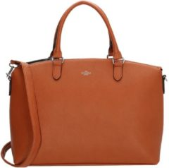 Bruine Charm London Stratford Handtas / Laptoptas - 15,6 inch - Cognac