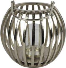 Luxury Label Windlicht Macey 34 X 34 Cm Staal Zilver