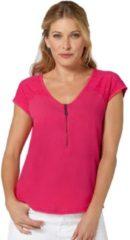 Roze Classic Inspirationen shirt met V-hals