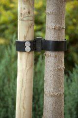 Zwarte Nature Rubber/canvas boomband 60x3,8cm set a 2 stuks