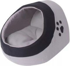 Grijze VidaXL Kussen voor katten grijs en zwart XL