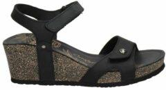 Zwarte Panama Jack nubuck sandalettes