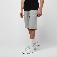 Grijze Nike Sportswear Club Short Jersey Sportshort Heren - Dk Grey Heather/White