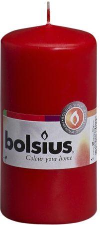 Afbeelding van Rode Bolsius Stompkaars rood 10 x 1 stuk