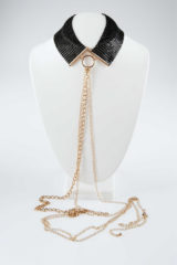 Gouden Bijoux Indiscrets Désir Métallique Ketting Tepelversiering - Zwart - Erotisch lichaamssieraad