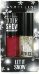 Rode Maybelline Let It Snow Duo Color Show Nagellak