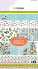 CraftEmotions CE Paperstack Home for Christmas 14,7 x 21 cm 32 vel