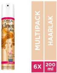 L'Oréal Paris Satin Kleurbescherming Haarspray - 6x 200ml multiverpakking 6x 200 ml