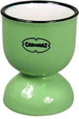 Groene Cabanaz Retro Eierdopje emaille geïnspireerd Vintage Green
