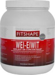 Fitshape Wei-Eiwit Vanille - 1000 gram - Eiwitshake - Sportvoeding