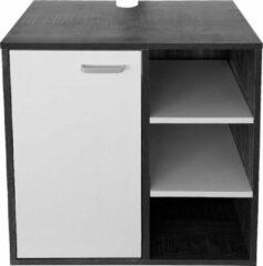 VDD Wastafelonderkast - badkamermeubel - donkergrijs met wit