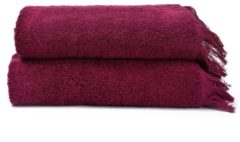 2-teiliges Handtuch Set mit Fransen-Abschluss Casa di bassi red