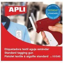 Zilveren Apli textielpistool voor standaard stoffen