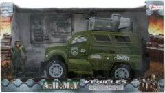 Donkergroene ARMY Voertuig Military CharIIt Truck