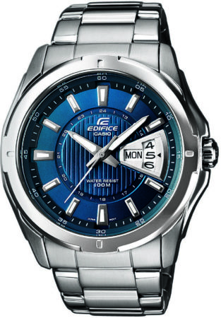Afbeelding van Casio Quartz Horloge EF-129D-2AVEF (l x b x h) 49 x 44.8 x 10.4 mm RVS Materiaal (behuizing): RVS Materiaal (armband): RVS