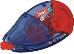 Rode Tesa Navulbare permanente lijmroller Permanent Rood blauw 8 4 mm x 14 m