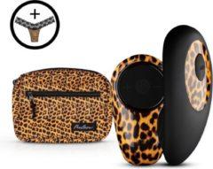Panthera Panthra Tania Vibrerende String - Vibrerend slipje met draadloze afstandsbediening - Seksspeeltje voor koppels met 10 Vibratiestanden - Panterprint