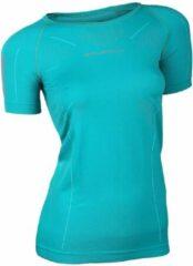 Brubeck Athletic Seamless - Sportshirt - Vrouwen - Maat M - Azuurgroen