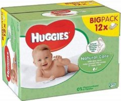 Huggies Billendoekjes Babydoekjes Natural Care - 672 Stuks voordeelverpakking