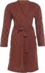 Rode Knit Factory Badjas Ivy - Roest - L/XL