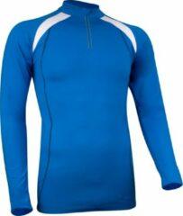 Antraciet-grijze Avento Sportshirt Lange Mouw - Dik Materiaal - Kobalt/Wit/Antraciet - S