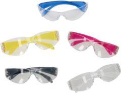 GS Quality Products Beschermingsbril kunststof - spatbril / veiligheidsbril met gekleurd montuur