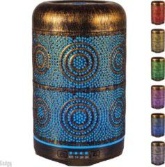 Gouden Gadgy Aroma Diffuser – geurverspreider - aromatherapie vernevelaar – Luchtbevochtiger metaal – sfeerverlichting met 7 kleuren