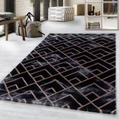 NAXOS Impression Vendi Design Laagpolig Vloerkleed Zwart Brons- 120x170 CM