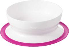 Witte Oxo Tot Stick & Stay Bowl / Schaaltje Pink