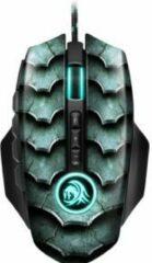 Groene Sharkoon Drakonia II muis USB Type-A Optisch 15000 DPI Rechtshandig