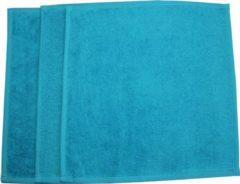 Funnies spuugdoekjes set van 3 - 30cm/30cm- uni line Turquoise