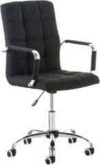 CLP Bürostuhl DELI V2 mit hochwertiger Polsterung und Stoffbezug I Schreibtischstuhl mit Metalldrehkreuz I Höhenverstellbarer Chefsessel mit Laufrolle