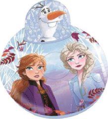 Paarse Disney zitkussen Frozen II opblaasbaar 60 x 40 cm lichtblauw