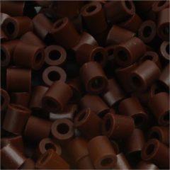 Creotime Strijkkralen, afm 5x5 mm, gatgrootte 2,5 mm, bruin (3), medium, 6000stuks