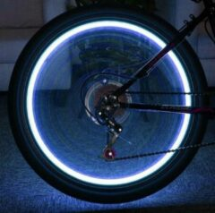 ABC-Led LED fietswiel verlichting - Blauw + INDUSTRIAL BATTERIJ