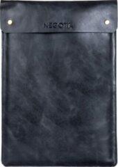 Negotia Leather NEGOTIA Alpha - Laptopsleeve 15,6 inch - Macbook Pro 16 inch Sleeve - Luxe Top-Grain Leren Laptophoes 15,6 inch - Zwart
