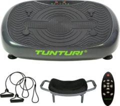 Grijze Tunturi vibratieplaat Cardio Fit V10 58 cm staal zwart 6-delig