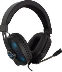 Zwarte Ewent Gaming headset, 2x 3,5mm jack + USB voor LED verlichting (alleen PC), 1,5 m PL3321