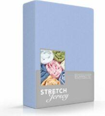 Zachte Jersey Hoeslaken Lits-Jumeaux Blauw   160x200/220 + 180/190/200x200   Dikke Kwaliteit   Rondom Elastiek