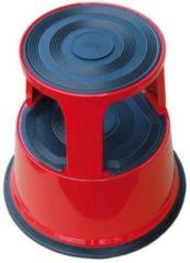 DESQ® Opstapkruk roll-a-step | Rood | Metaal | Hoogte 42 cm