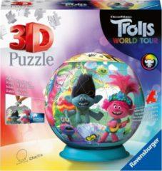 Ravensburger Spieleverlag Ravensburger puzzleball Trolls 2 World Tour - 3D Puzzel - 72 stukjes